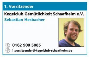 1. Vorsitzender des KC Gem. Schaafheim