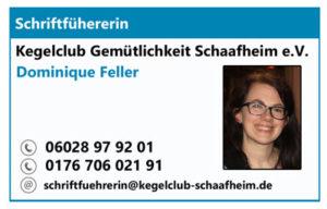 Schriftführer/in des KC Gem. Schaafheim