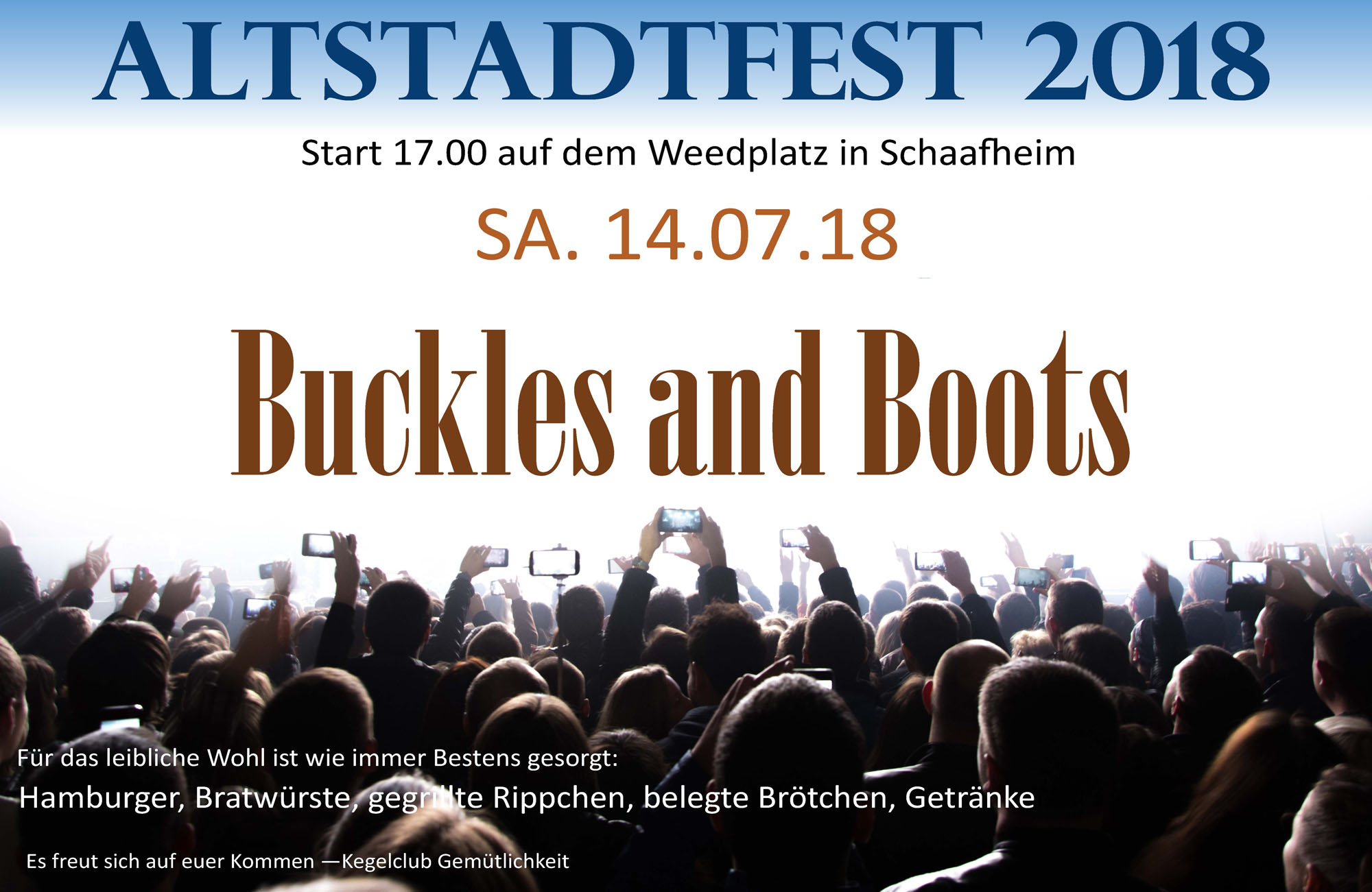 Altstadtfest 2018 mit Buckles and Boots
