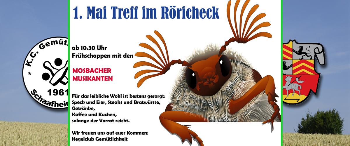 Maifeier im Röhricheck des Kegelclub Gemütlichkeit Schaafheim