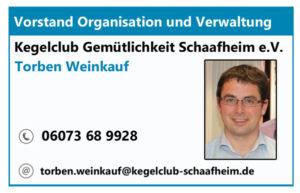 Vorstand Organisation und Verwaltung Torben Weinkauf