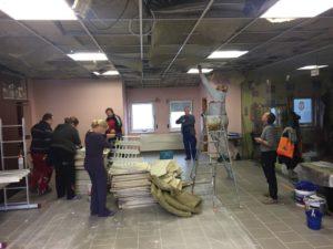 Renovierung des Gastraumes im ehemaligen Falkenhof nun Zauberwürfel