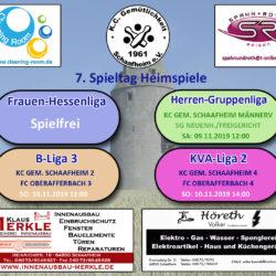 09.11.2019KC Gemütlichkeit Schaafheim 1 0 0 SG Neuenh./Freigericht12:00 10.11.2019KC Gemütlichkeit Schaafheim 2 Mä 0 0 FC Oberafferbach 312:00 10.11.2019KC Gemütlichkeit Schaafheim 0 0 FC Oberafferbach 414:00