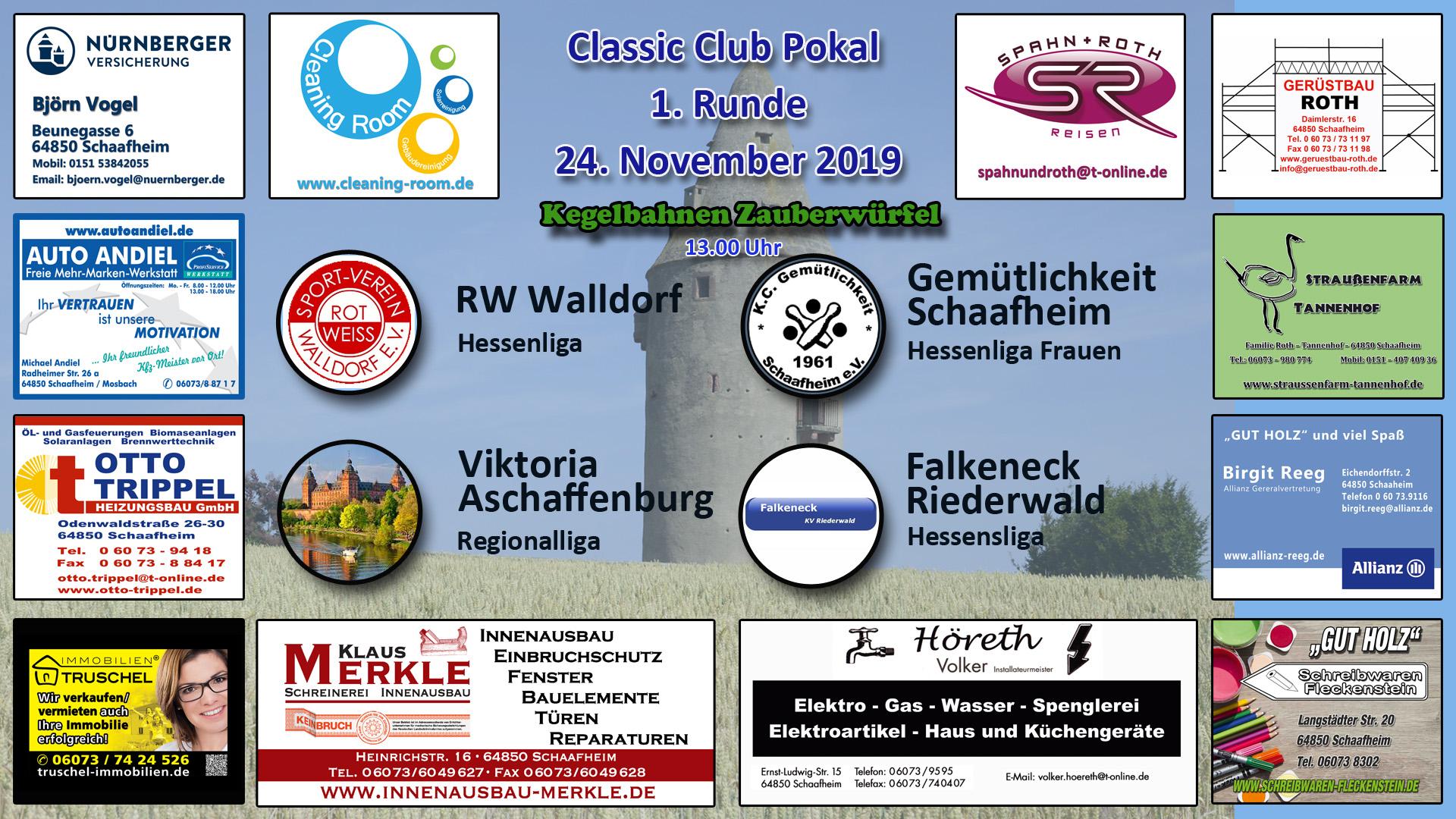 Classik Club Pokal Frauen 1. Runde 2019-2020