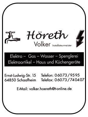 Höreth Volker - Installationsmeister in Schaafheim