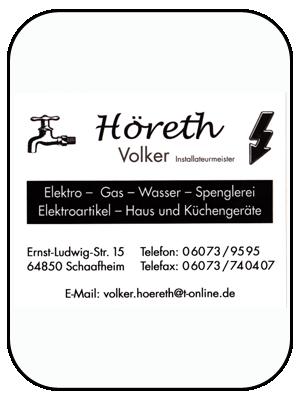 Firma Volker Höreth Elektro-Gas-Wasser-Installationen